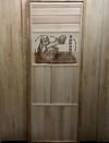 Дверь из липы наборная, фрагмент