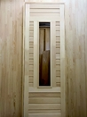Дверь из липы наборная, стекло
